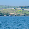 Site of Peter's Restoration and Mount of the Beatitudes seen from the Sea of Galilee