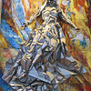 """American contribution to the many artworks depicting Mary. """"The Woman Clothed with the Sun"""" sculpted by Charles L. Madden from bronze, aluminum and glass in 1972"""