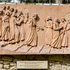 Bas-relief of Jesus and disciples on their way across Kidron Valley after the Last Supper