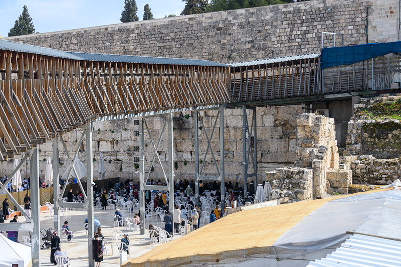 Bridge over the Wailing Wall onto the Temple Mount.