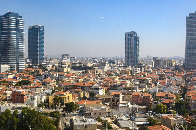 Looking out over Tel Aviv from the David Intercontinental