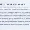 Text about northern palace