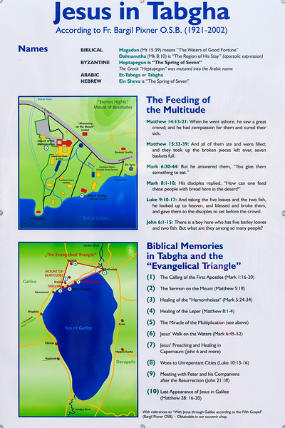 Signage putting some of the events that occured in the evangelical triangle literally on the map.