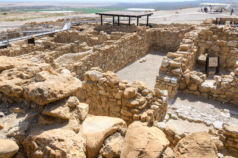 Ruins of some of the buildings of Qumran.