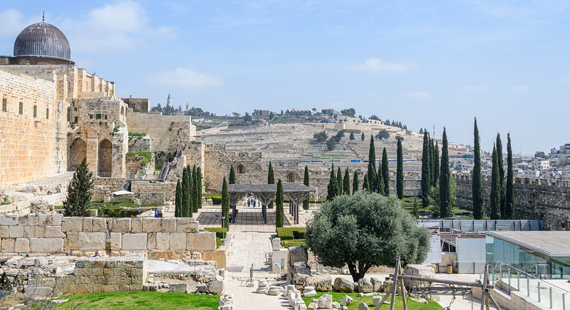 View from City of David area to Mount of Olives