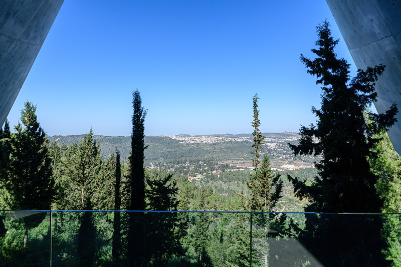 View toward Jerusalem from the museum.