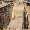 One of the open cisterns at Qumran where rain water could be stored for the long periods with absolutely no rain.