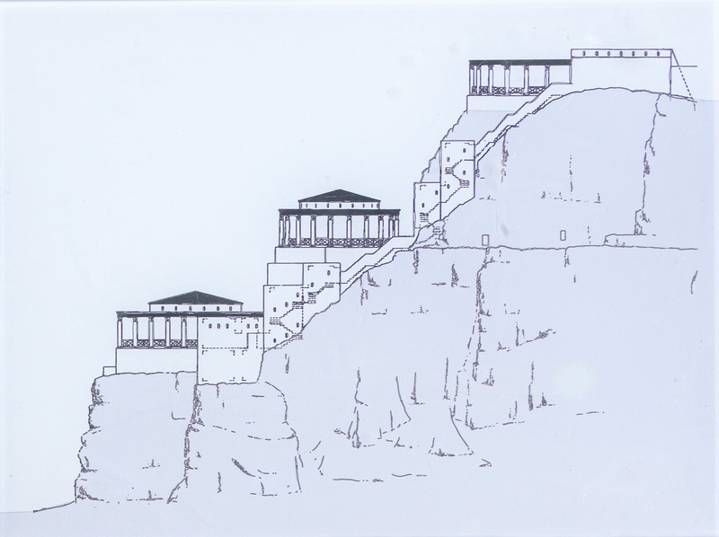 Side view drawing of Northern Palace