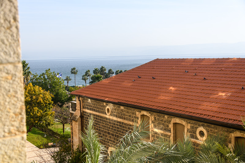 View over the Sea of Galilee on our last morning in Tiberas.
