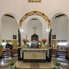 Interior of Roman Catholic chapel at Mount of Beatitudes