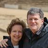 David and Brenda smiling at Caesarea