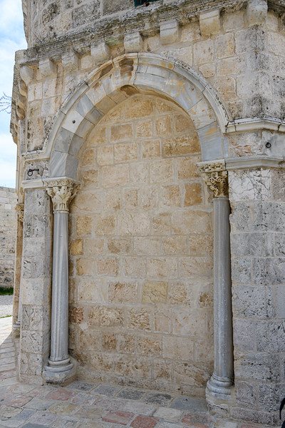 Arch on exterior of Chappel of Ascension