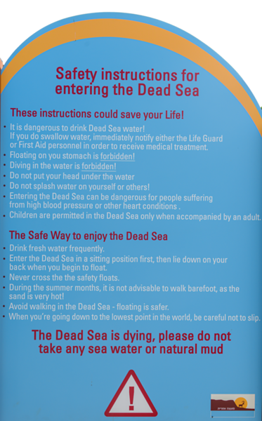The water of the Dead Sea can be truly deadly.