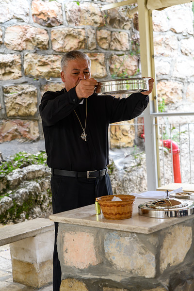 Hani offered us the sacrament of holy communion within the area of the garden tomb.  A very moving experience.