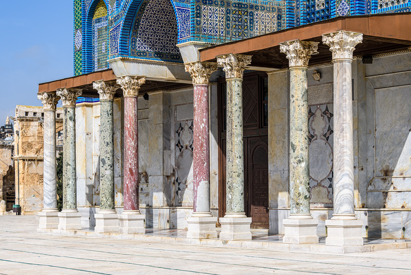 Mismatched Columns at Dome of teh Rock