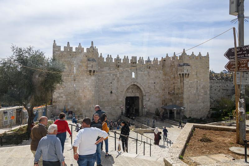 Damascus Gate into Jerusalem