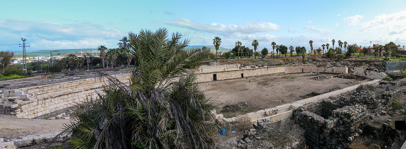 Ruins of Roman Amphitheatre, the only one in Israel.
