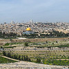 Panoramic view of Jerusalem and the Kidron Valley from the Mount of Olives.