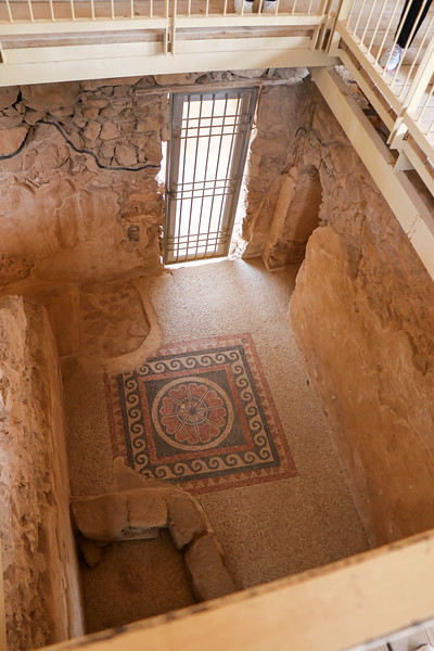 Tile floor within palace.