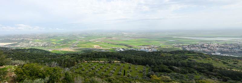The field of Megiddo (Armageddon) as seen from Mt. Carmel.
