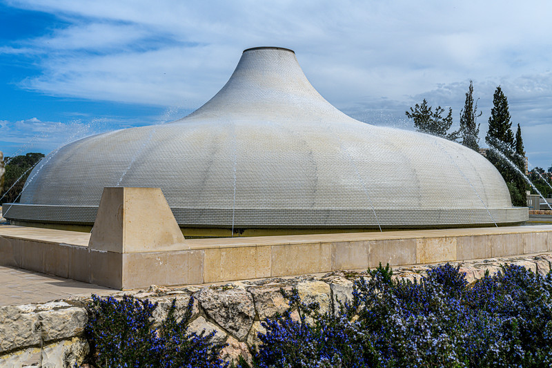 The white dome is located above the main repository of scrolls.  Its color signifies the forces of light that are being actively purified by the flowing water from the fountains.