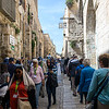 Walking the narrow roads of Jerusalem as we head on the Via Dolorosa.