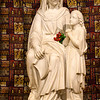 Statue of Anne and her daughter Mary who was to be the mother of Jesus.
