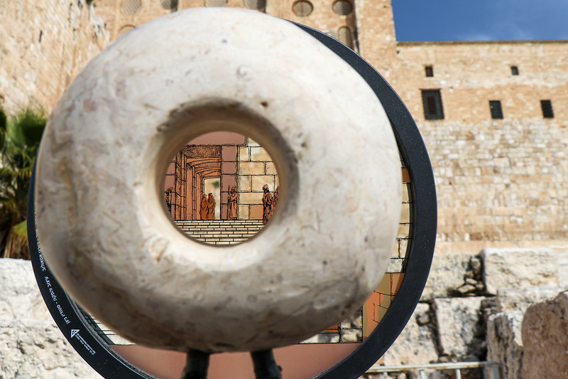 Peering through time into the Hulda gate.