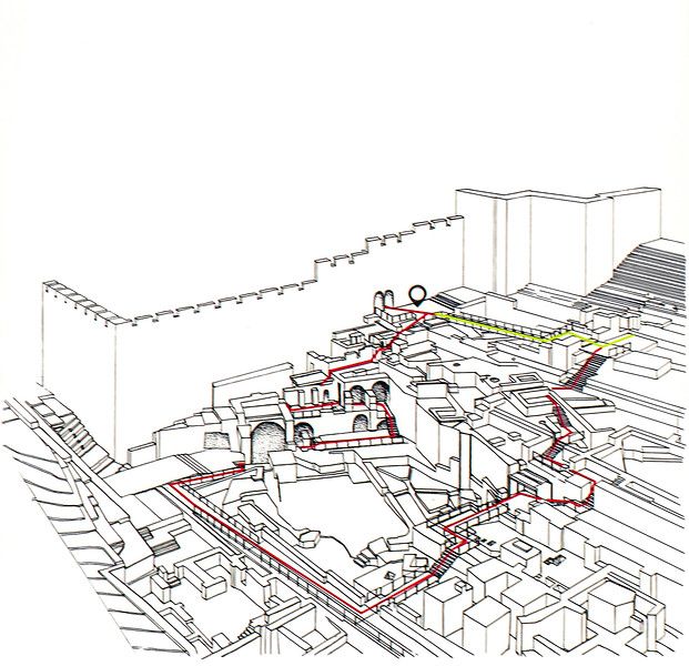 Map of the path through the ruins.