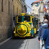 Tourist train rolling through the streets
