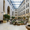 Enormous and deserted atrium in the hotel. Coronavirus impact was becoming impossible to ignore.