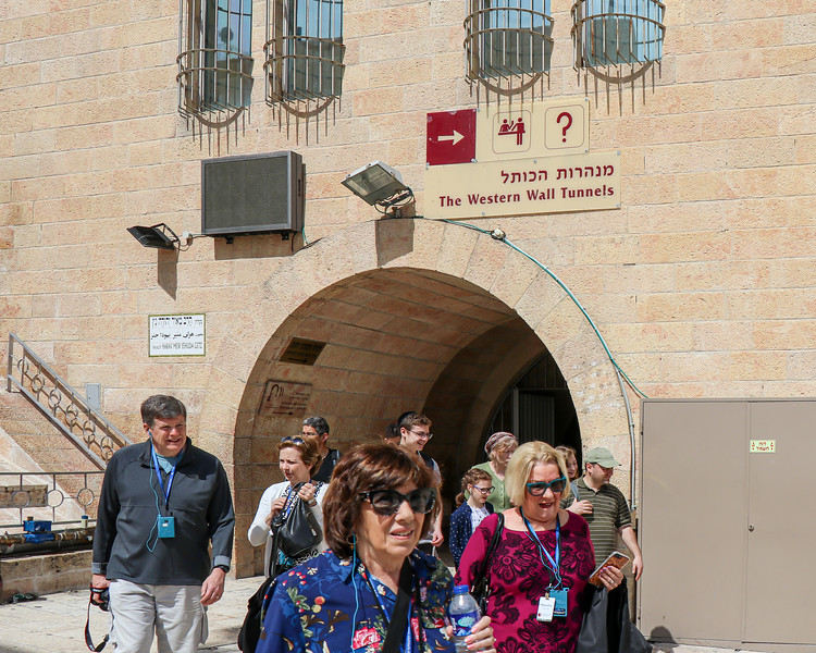 Entering the Wailing Wall Area