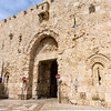 Zion Gate is a battle-scarred gate built in 1540 at the southwestern corner of the Old City on Mount Zion. There are references to the Gate of Zion as far back as the 10th Century, but it is not known whether this is the site of that ancient gate. Zion Gate was prominent during the War of Independence (1948), when it changed hands three times and still bears the scars of those battles.