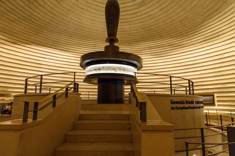 Book of Genesis on a Dead Sea Scroll on display