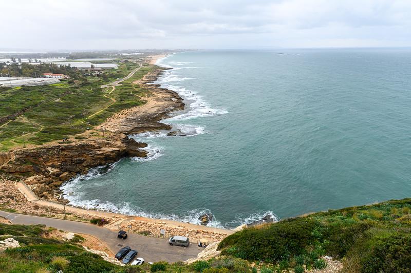 Looking south along the Israeli coast.