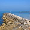 Breakwater at Tel Aviv Beach