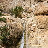 Waterfall with year round water in the Judean desert.