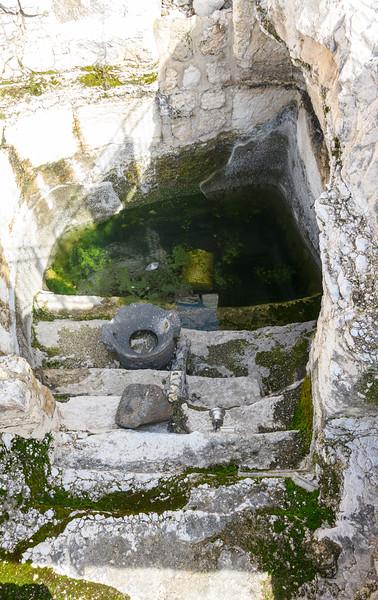 Remains of a ritual bath.