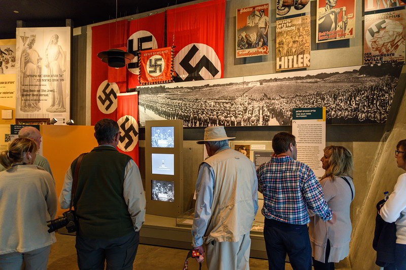 Rise of the Hitler at the entrance of the museum