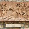 Bas-relief of Jesus being taken before Caiaphas