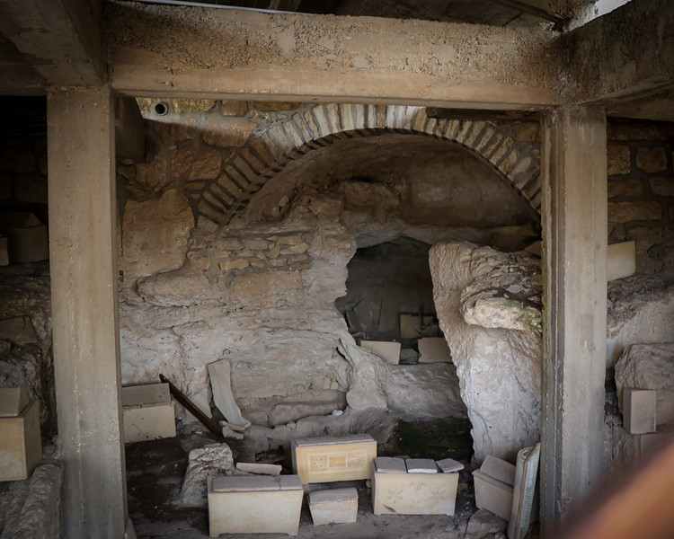 Ossuary (bone) boxes beneath Dominus Flevit