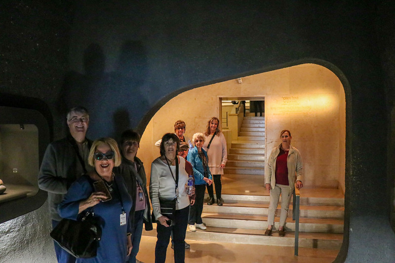 A pause for a photo as we enter the Shrine of the Book