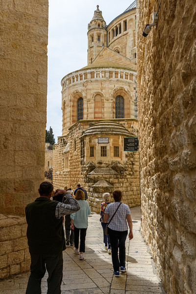 Dramatic facade of the Abbey of Dormition