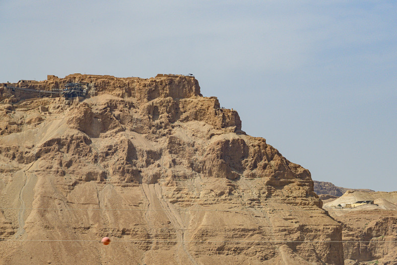 Iconic view of Northern Palace area of Masada.