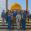 A bit of HDR artistry applied to a group shot on the Temple Mount.