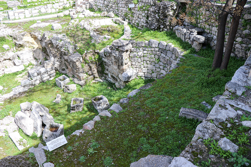 Now dry, these were healing pools of Bethzatha or Bethesda