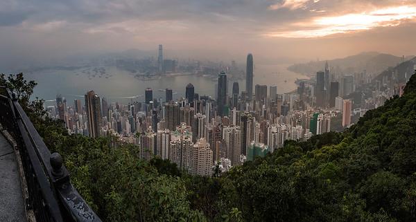 Hong Kong panorama sunrise shot