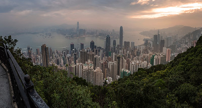 Hong Kong panorama sunrise shot