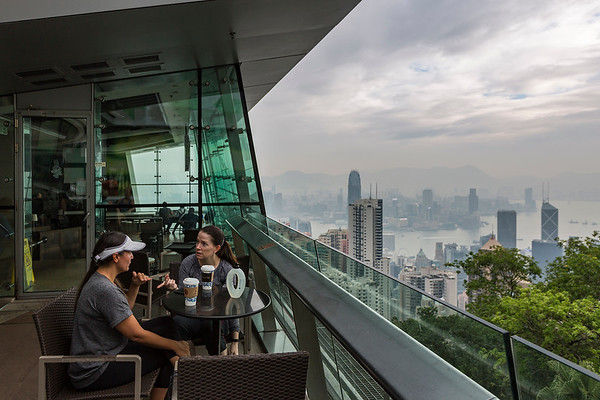 Not a bad view from the Peak Tower coffee shop.....if the weather were nicer:-(