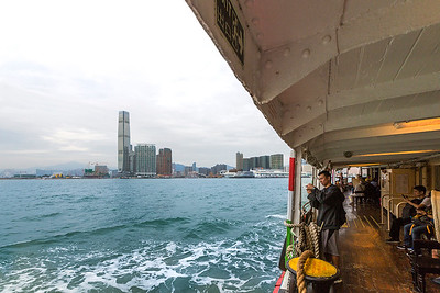 Heading to Kowloon on the Star Ferry